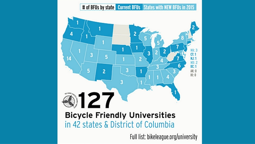 UM Receives Bronze Award as a Bicycle Friendly University